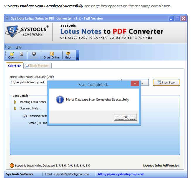 Qualities of Lotus Notes to PDF Software